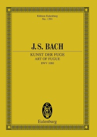 Bach: Art of Fugue BWV 1080 (Study Score) published by Eulenberg
